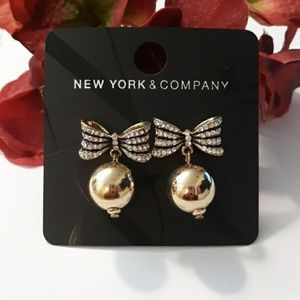 New York & Co. Bow Holiday Earrings